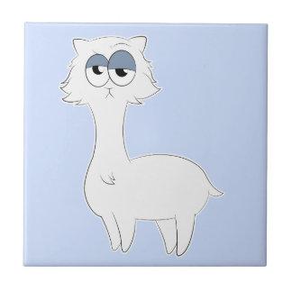 Grumpy Persian Cat Llama Tile
