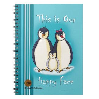 Grumpy Pie Notebooks - Penguin