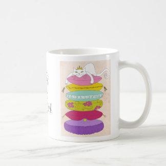 Grumpy princess cat and the pea cartoons classic white coffee mug