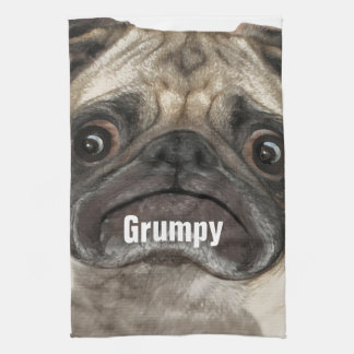 Grumpy Puggy Gifts Kitchen Towels