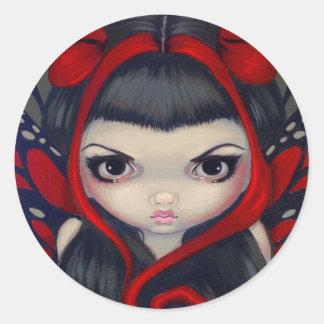 """""""Grumpy Red Fairy"""" Sticker"""