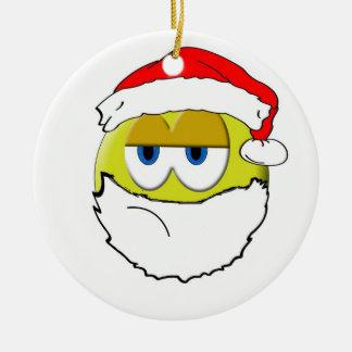 Grumpy Santa Ceramic Ornament