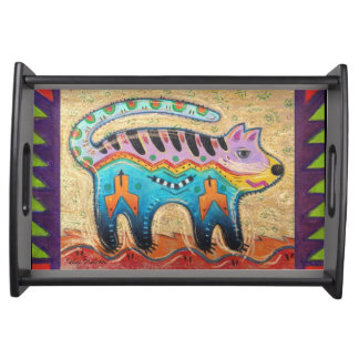 Grumpy Southwestern Cat Serving Tray