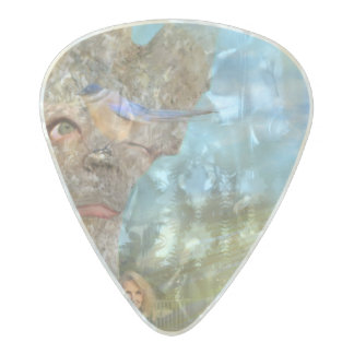 Grumpy Tree Pearl Celluloid Guitar Pick