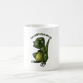 Grumpysaurus dinosaur being grumpy! coffee mug