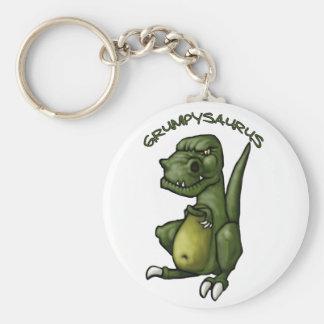 Grumpysaurus dinosaur being grumpy! keychain