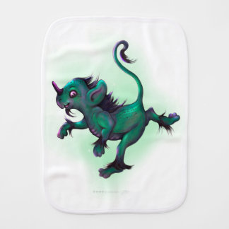 GRUNCH ALIEN MONSTER CUTE CARTOON Burp Cloth