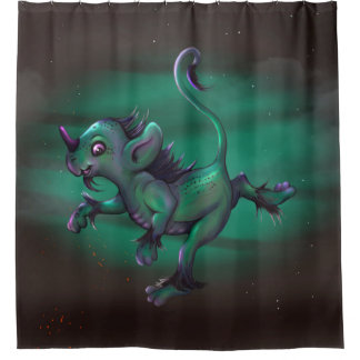 GRUNCH Shower Curtain MONSTER 2
