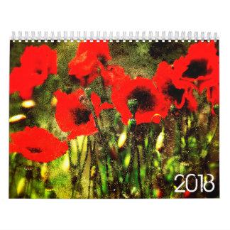 Grunge 2018 Calendar