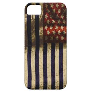 Grunge 4ème de drapeau américain de StellaRoot iPhone 5 Case