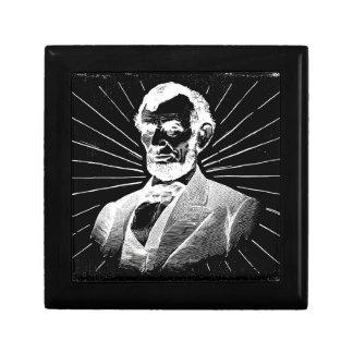 grunge abraham lincoln gift box