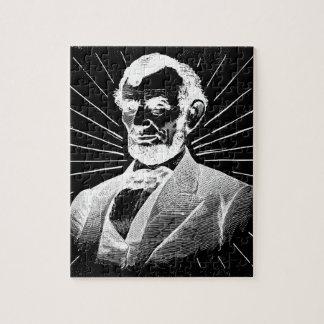 grunge abraham lincoln jigsaw puzzle