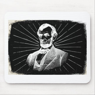 grunge abraham lincoln mouse pad