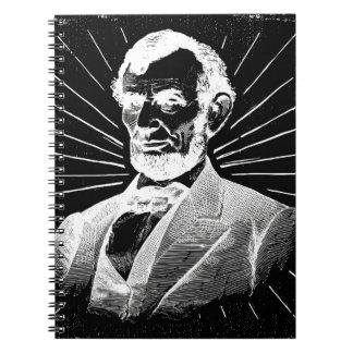 grunge abraham lincoln spiral notebook
