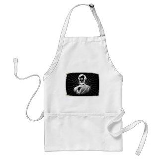 grunge abraham lincoln standard apron