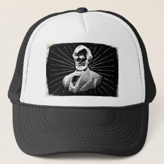 grunge abraham lincoln trucker hat