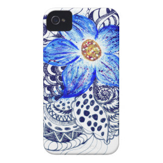 Grunge Acrylic Flowers 2 Case-Mate iPhone 4 Cases