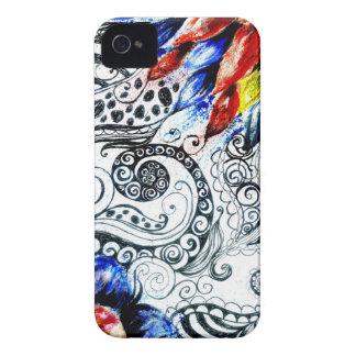 Grunge Acrylic Flowers Case-Mate iPhone 4 Case