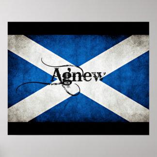 Grunge Agnew Scotland Flag Poster