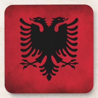 Grunge Albanian Flag [High Quality] Drink Coasters