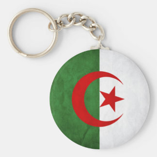Grunge Algeria National Flag Keychain