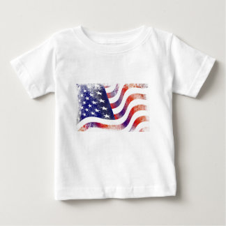 Grunge American Flag Baby T-Shirt
