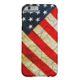 Grunge American flag Barely There iPhone 6 Case