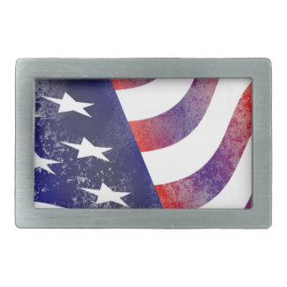 Grunge American Flag Belt Buckles