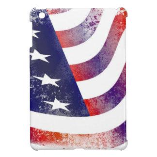 Grunge American Flag Case For The iPad Mini