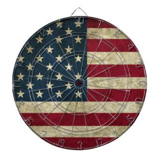 Grunge American Flag Dartboard