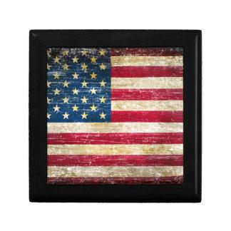 Grunge American Flag Gift Box