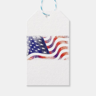 Grunge American Flag Gift Tags