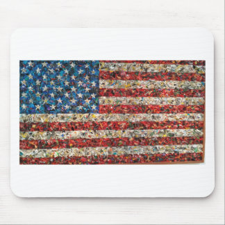 grunge american flag mouse pad