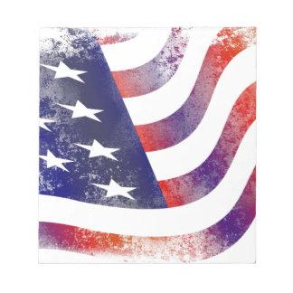 Grunge American Flag Notepad