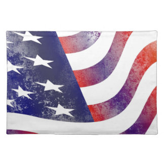 Grunge American Flag Placemat