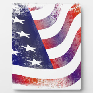 Grunge American Flag Plaque