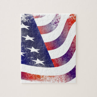 Grunge American Flag Puzzles