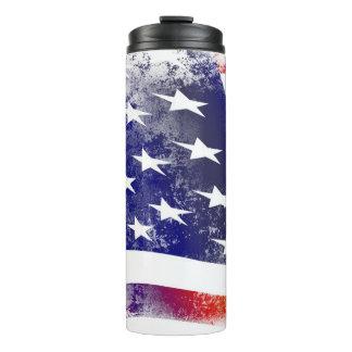 Grunge American Flag Thermal Tumbler