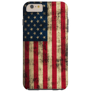 Grunge American Flag Tough iPhone 6 Plus Case
