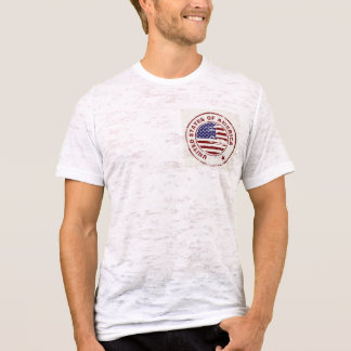 Grunge American Flag With Rubber Stamp T-Shirt