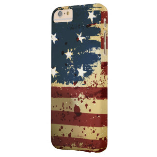 Grunge American Patriotic Flag Barely There iPhone 6 Plus Case
