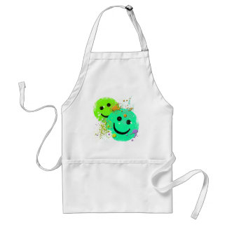 GRUNGE AND PAINT SPLATTER SMILEY'S STANDARD APRON