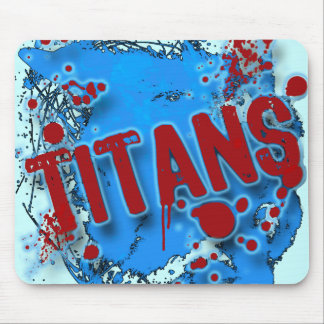 GRUNGE AND SPLATTER TITANS MOUSE PAD