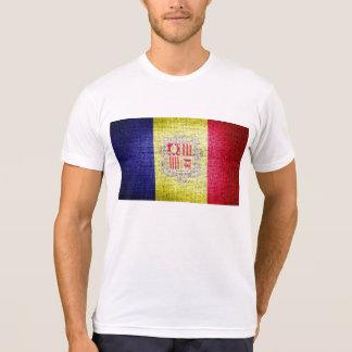 Grunge Andorra Flag T-shirt