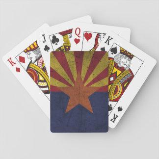 Grunge Arizona Flag Playing Cards