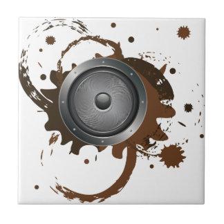 Grunge Audio Speaker 2 Ceramic Tiles