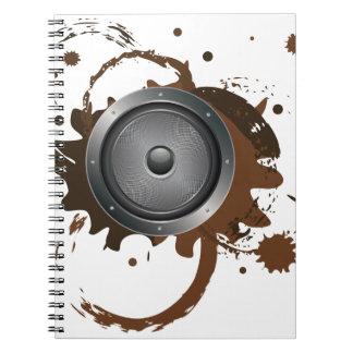 Grunge Audio Speaker 2 Spiral Notebook