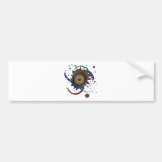 Grunge Audio Speaker 3 Bumper Sticker