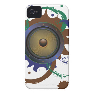 Grunge Audio Speaker 3 Case-Mate iPhone 4 Cases