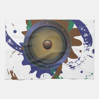 Grunge Audio Speaker 3 Kitchen Towel